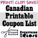 Canadian Printable Coupons List