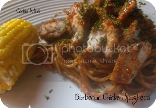 Barbecue Chicken Spaghetti