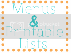 Menus and Printable Grocery Lists