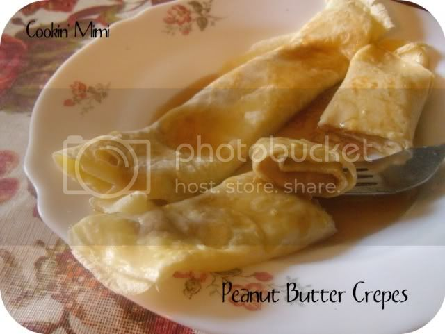 Peanut Butter Filled Crepes
